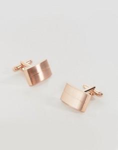 Золотисто-розовые запонки ASOS - Золотой