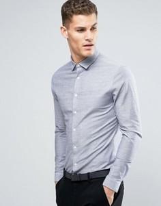 Голубая оксфордская рубашка суперузкого кроя ASOS - Синий