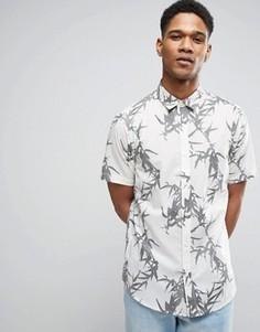 Узкая рубашка с короткими рукавами и принтом Only & Sons - Бежевый