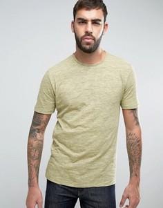 Меланжевая футболка с необработанным краем Only & Sons - Зеленый