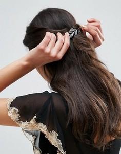Заколка для волос в виде листика ASOS - Черный