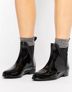 Черные резиновые ботинки челси Glamorous - Черный