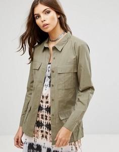Куртка в стиле милитари Rock & Religion - Зеленый