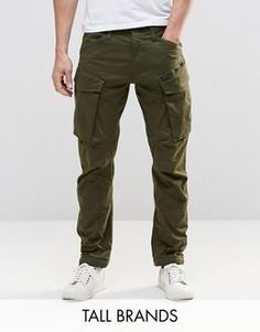 Суженные книзу брюки карго с молнией G-Star TALL Rovic 3D - Зеленый