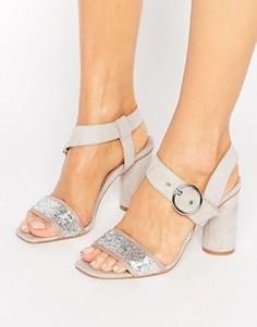 Босоножки на каблуке с блестками Truffle Collection - Серый