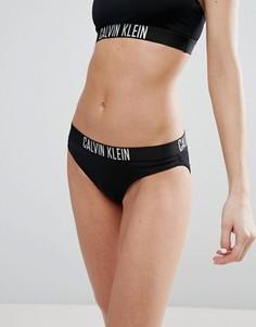 Плавки бикини с логотипом Calvin Klein - Черный