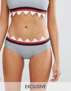 Трусы бикини с зубами акулы Lazy Oaf - Мульти