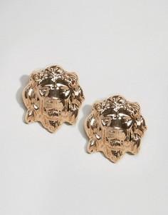 Серьги-гвоздики в виде льва ALDO - Золотой