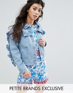 Джинсовая куртка с оборками Glamorous Petite - Синий