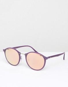 Солнцезащитные очки в круглой оправе Ray Ban - Фиолетовый