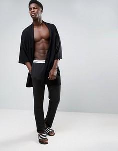 Штаны для дома классического кроя из хлопка Calvin Klein - Черный