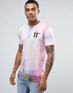 Белая футболка с принтом 11 Degrees - Белый