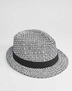 Соломенная шляпа в стиле 7-х - Черный 7X