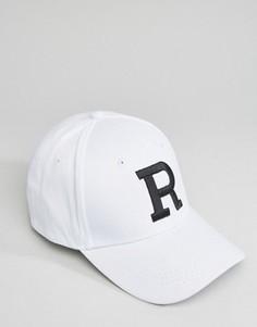 Бейсболка с буквой R 7X - Белый