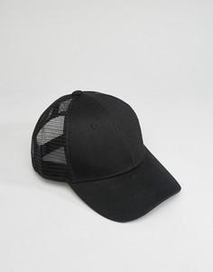 Черная бейсболка с изогнутым козырьком 7X - Черный