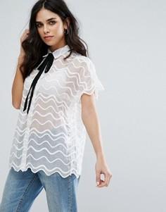Кружевная рубашка Little White Lies Simone - Белый