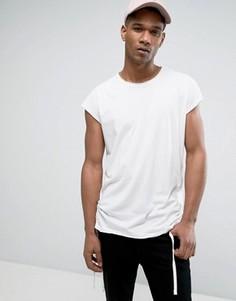 Удлиненная футболка с короткими цельнокройными рукавами Jack & Jones Originals - Белый