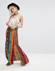 Юбка макси с принтом и разрезом Glamorous - Мульти