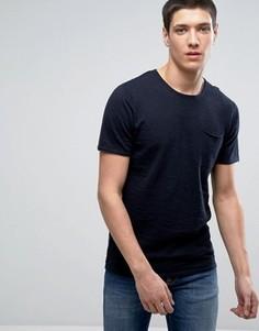 Трикотажная футболка с короткими рукавами Selected Homme - Темно-синий