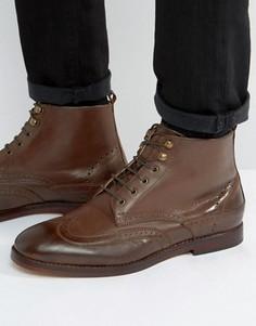 Кожаные броги на шнуровке Hudson Penley - Коричневый