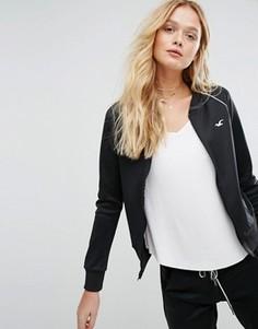 Спортивная куртка на молнии Hollister - Черный