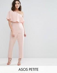 Комбинезон на одно плечо с оборкой ASOS PETITE - Розовый