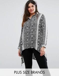 Рубашка асимметричной длины с принтом барокко Koko Plus - Мульти