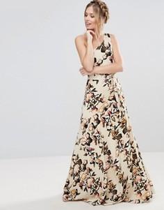 Платье макси на одно плечо с цветочным принтом Gestuz - Мульти