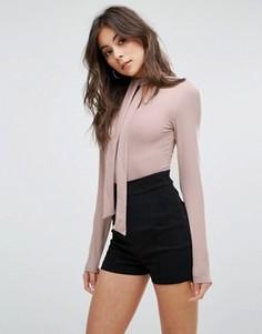 Боди с длинными рукавами Fashion Union - Розовый