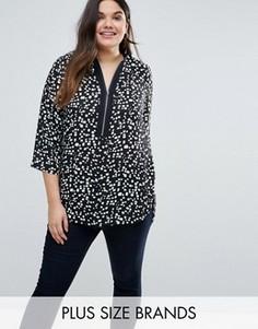 Блузка в горошек Lovedrobe Plus - Черный