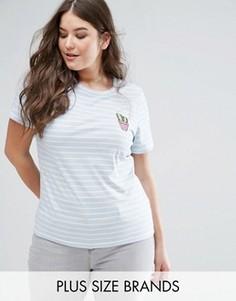 Трикотажная футболка в полоску с нашивкой-кактусом Alice & You - Мульти
