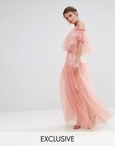 Юбка макси из тюля True Decadence - Розовый