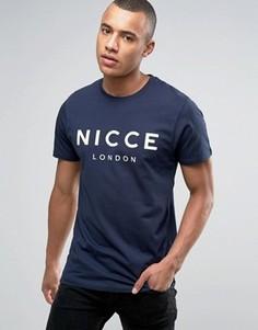 Темно-синяя футболка Nicce London - Темно-синий