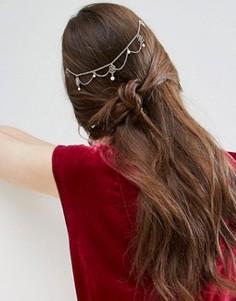 Украшение для волос с искусственным жемчугом и филигранью ASOS - Золотой