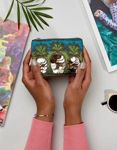 Кошелек с ананасами и дисками New Look - Мульти