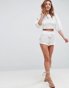 Пляжные шорты с отделкой New Look - Белый