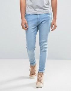 Синие суперузкие джинсы с напылением Waven - Синий