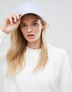 Синяя хлопковая кепка Calvin Klein - Синий