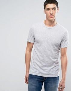 Премиум-футболка в полоску Jack & Jones - Серый