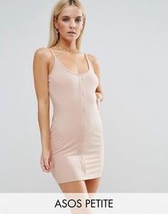 Облегающее платье на кнопках ASOS PETITE - Розовый