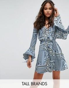 Платье с открытыми плечами Influence Tall - Синий