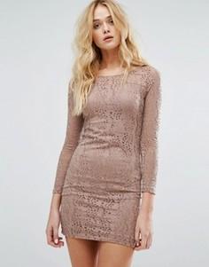 Платье мини с вырезной отделкой Vila - Фиолетовый