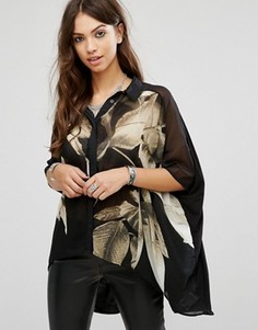Блузка с принтом Religion - Черный