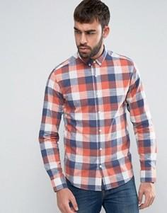 Приталенная рубашка в клетку Only & Sons - Красный