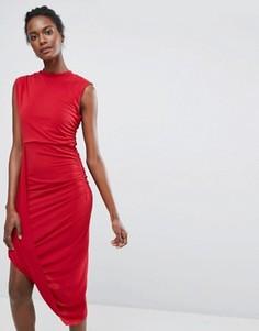 Асимметричное платье Wal G - Красный