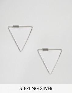 Тонкие треугольные серьги Kingsley Ryan - Серебряный