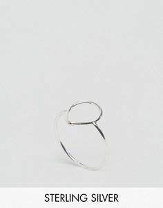 Серебряное кольцо с каплеобразными вырезами Kingsley Ryan - Серебряный