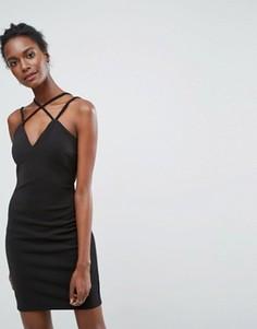 Платье на двойных тонких бретельках Wal G - Черный
