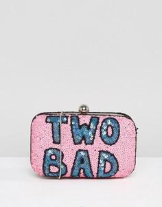 Клатч с ручной вышивкой бисером From St Xavier X How Two Live - Розовый