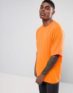 Ярко-оранжевая oversize-футболка Granted - Оранжевый